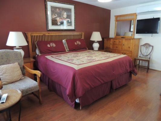 Interior View of Casa Larrea Inn, One Bedroom Master Suite, Palm Desert CA 92260